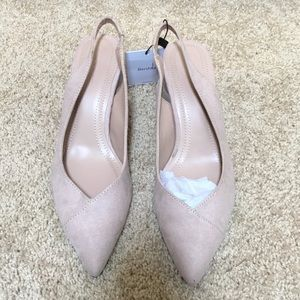 New! Bershka SZ 6 pointed toe back strap  heels
